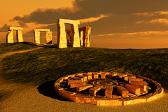 Stonehenge. Abstract scene of the Stonehenge Royalty Free Stock Photos