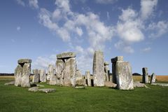 Stonehenge. The famous and mysterious Stonehenge in England stock photo