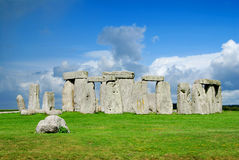 Stonehenge. Historical monument Stonehenge not far from town of Amesbury, England royalty free stock photo
