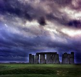 Stonehenge. Just before the sun sets Stock Photos