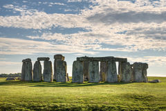 Stonehenge. Ancient site of Stonehenge during coming sunset Royalty Free Stock Photos