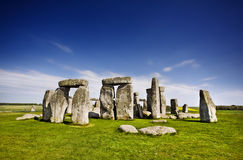Stonehenge. With blue sky, England. UK Royalty Free Stock Photos