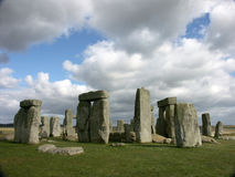 Stonehenge. The greatest standing stone circle in England, estimated at 3100 BC royalty free stock image
