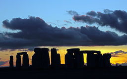 Stonehenge. An ancient monument in the Wiltshire countryside England stock images