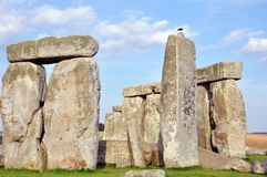 The Stonehenge. Iconic Stone Monument Was Constructed Anywhere From 3000 BC to 2000 BC. Part of  Horizontal Photography Royalty Free Stock Image
