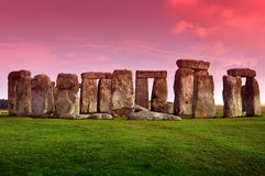 Stonehenge. Prehistoric Monument Located in the English County of Wiltshire. Archaeologists Have Believed That the Iconic Stone Monument Was Erected Around Royalty Free Stock Image