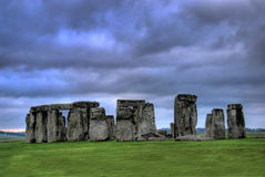 Stonehenge. Mysterios ancient construction in Britain stock photography