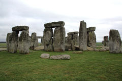 Stonehenge. Stormy day at Stonehenge in Wiltshire, England on the Salisbury plain Royalty Free Stock Photo