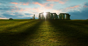Stonehenge. A photograph of Stonehenge at the evening sun Stock Photo