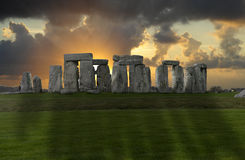Stonehenge. The ancient rock circle at Stonehenge, England Royalty Free Stock Images