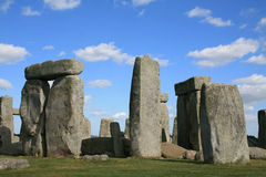 Stonehenge. Is a prehistoric monument located in the English county of Wiltshire, about 2 Miles west of Amesbury and 8 Miles north of Salisbury. One of the most stock image