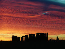 Stonehenge. This shot was taken on 11/12/07 showing a fantastic Sunrise Royalty Free Stock Photos