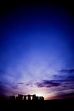 заход солнца stonehenge Стоковые Фотографии RF