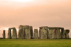 Stonehenge. Wiltshire, england photographed on a late winter evening Royalty Free Stock Images