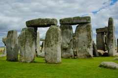 Stonehenge. Ancient stones in Stonehenge in summer day stock image