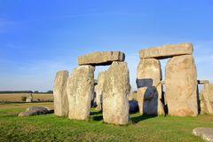 Stonehenge. Closeup of rock formations of Stonehenge in England royalty free stock image