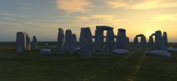 Stonehenge al crepuscolo Immagini Stock Libere da Diritti