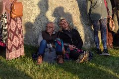 Stonehenge Summer Solstice 2018 stock images