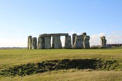 Stonehenge Ancient Monument. Stonehenge is an ancient monument consisting of the remains of a ring of standing stones in Wiltshire, UK royalty free stock photography