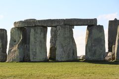 Stonehenge Ancient Monument. Stonehenge is an ancient monument consisting of the remains of a ring of standing stones in Wiltshire, UK royalty free stock photo