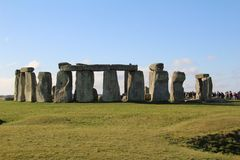Stonehenge Ancient Monument. Stonehenge is an ancient monument consisting of the remains of a ring of standing stones in Wiltshire, UK stock image