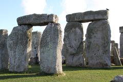 Stonehenge Ancient Monument. Stonehenge is an ancient monument consisting of the remains of a ring of standing stones in Wiltshire, UK royalty free stock images
