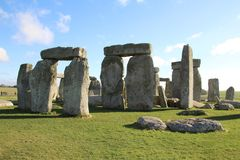 Stonehenge Ancient Monument. Stonehenge is an ancient monument consisting of the remains of a ring of standing stones in Wiltshire, UK stock photos