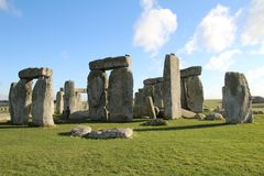 Stonehenge Ancient Monument. Stonehenge is an ancient monument consisting of the remains of a ring of standing stones in Wiltshire, UK stock photography