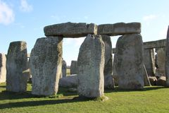Stonehenge Ancient Monument. Stonehenge is an ancient monument consisting of the remains of a ring of standing stones in Wiltshire, UK stock images