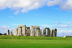 Stonehenge. An ancient prehistoric stone monument near Salisbury, Wiltshire, UK. in England Stock Image