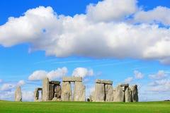 Stonehenge. An ancient prehistoric stone monument near Salisbury, Wiltshire, UK. in England stock image