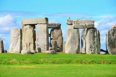 Stonehenge. An ancient prehistoric stone monument near Salisbury, Wiltshire, UK. in England stock images