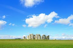 Stonehenge. An ancient prehistoric stone monument near Salisbury, Wiltshire, UK. in England Stock Photos