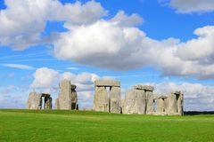Stonehenge. An ancient prehistoric stone monument near Salisbury, Wiltshire, UK. in England royalty free stock images