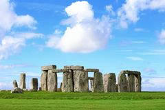 Stonehenge. An ancient prehistoric stone monument near Salisbury, Wiltshire, UK. in England Stock Photography