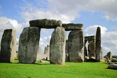 Stonehenge. An ancient prehistoric stone monument near Salisbury, Wiltshire, UK. in England royalty free stock photos