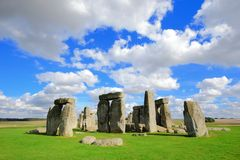 Stonehenge. An ancient prehistoric stone monument near Salisbury, Wiltshire, UK. in England royalty free stock photo