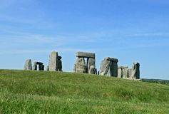 Stonehenge, an ancient prehistoric stone monument stock images