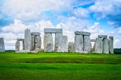 Stonehenge an ancient prehistoric stone monument, Wiltshire Stock Images