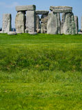 Stonehenge. Ancient ruins of Stonehenge in English countryside on a sunny day royalty free stock photography