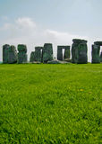 Stonehenge. Ancient ruins of Stonehenge in English countryside on a sunny day royalty free stock images