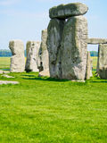 Stonehenge. Ancient ruins of Stonehenge in English countryside on a sunny day stock images