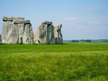 Stonehenge. Ancient ruins of Stonehenge in English countryside on a sunny day stock image