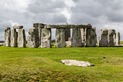 Stonehenge Archaeological Site England. The prehistoric monument stonehenge with its stones in a circular shape, Wiltshire, England royalty free stock image