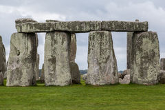 Stonehenge Archaeological Site England. The prehistoric monument stonehenge with its stones in a circular shape, Wiltshire, England royalty free stock photography