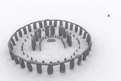 Stonehenge as it was. Stonehenge in 3D digital rendering Royalty Free Stock Images