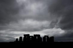 Stonehenge atmosferico Fotografia Stock