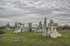 Stonehenge auf Ada Ciganlija, Belgrad Stockbild