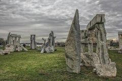 Stonehenge auf Ada Ciganlija, Belgrad Stockfotografie