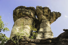 Stonehenge av Ubon, Thailand Arkivfoto